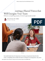 4 Steps to Creating a Shared Vision That Will Energize Your Team