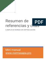 Mini Manual Normas Apa Septima Edicion Espanol