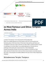 21 Most Famous Lord Shiva Temples Across India