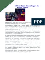 Biografi Lionel Messi Dalam Bahasa Inggris dan Artinya Terbaru.docx