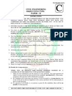 RRB Junior Engineer Civil Solved Model Question Paper 3