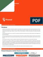 PEL Capital Raise Overview VFinal22