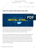 How to Load Initial Stock Into SAP _ APPSeCONNECT