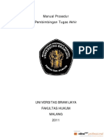 Manual Prosedur Penetapan Pembimbing TA