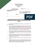 WRIT OF POSSESSION SAMPLE.doc