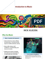 Nick Klezek - An Introduction to Music