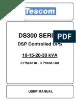 DS 300 10-15-20-30KVA User Manual EN