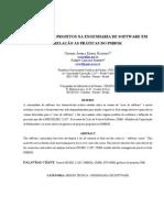 GERÊNCIA DE PROJETOS NA ENGENHARIA DE SOFTWARE EM RELAÇÃO AS PRÁTICAS DO PMBOK