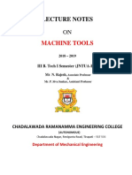 Machine Tools Lecture Notes-III-i