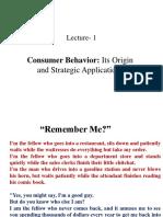 Consumer Behavior- lecture