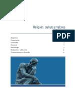 1- Religión, cultura y valores