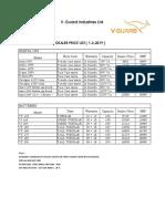 V Guard Dealer Price List 01.03.2019