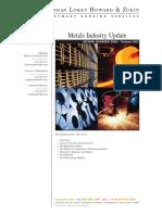 Metals Industry Update