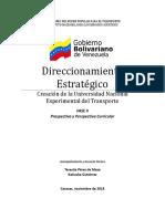 Prospectiva y Perspectiva Curricular de la Universidad del Transporte
