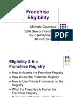 SBA Franchise Eligibility