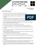 Stat 101 Sample Final Exam