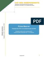 Enquête Prime Macron SDI