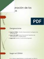 Designacion y Materias Primas