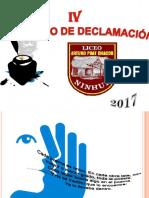 Presentación Declamación PPT