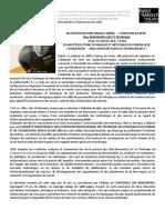 Communiqué de presse INDUSTRIE DU RÊVE 2020