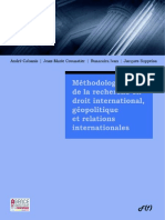 Cabanis А., Crouzatier Jean-Marie, Ivan R. - Methodologie de la recherche en droit international, geopolitique et relations internationales (master et doctorat).pdf