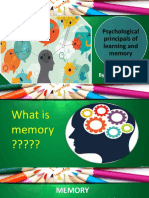 Chapter 5 (Psychological Principals of Learning and Memory)