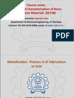 EE669_Lecture 27_15.10.2019 Metallization