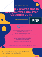 Best Top 5 Proven Tips to Rank Your Website Over Google in 2019