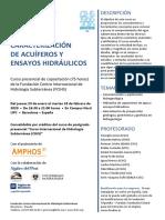 2º Curso Caracterización de acuíferos y ensayos hidráulicos - presentación