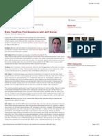 Rails TakeFive  Five Questions with Jeff Cohen