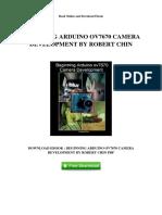 Beginning Arduino Ov7670 Camera Development by Robert Chin