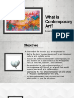 Lesson 1 What is Contemporary Art.