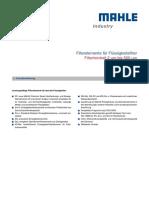 MAHLE INDUSTRY Filterelemente De