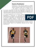 Deportes Paralimpicos