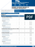 12 Week Clear Muscle Challenge