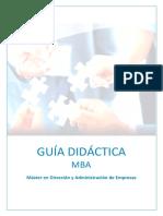 Guía Didáctica MBA
