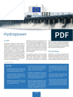Technology Information Sheet Hydropower