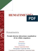 HEMATIMETRÍA