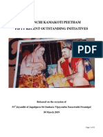 Fifty initiatives by SHRI KANCHI KAMAKOTI PEETHAM
