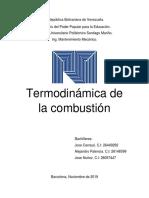 Trabajo de Termodinamica de La Combustion