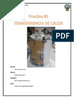 Practica 5 de Taller de Procesos Operaciones Transferencia de Calor