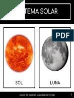 Tarjetas Sistema Solar Los Planetas