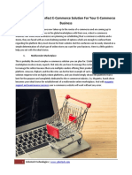 Determining the Perfect E-Commerce Solution for Your E-Commerce Business