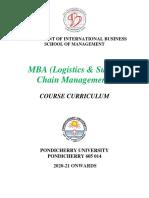 MBA (Logistics & Supply Chain Management)  2020-2021-12092019