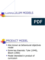 Curriculum Models Long