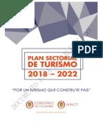 Plan Sectorial de Turismo Consulta Pública