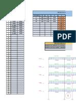 Matriz de Rigidez Portico Con Columnas Eje 1-1