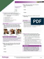 A2 UNIT 1 Life Skills Video Worksheet
