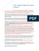 John 1030-33, What made the Jews want to kill Jesus.docx