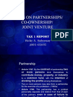 Cases on Partnerships